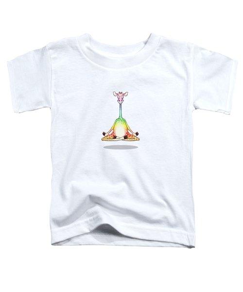 Levitating Meditating Rainbow Giraffe Toddler T-Shirt