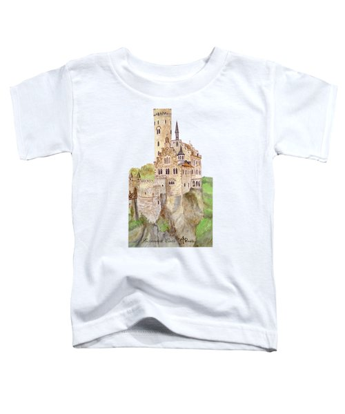 Lichtenstein Castle Toddler T-Shirt by Angeles M Pomata