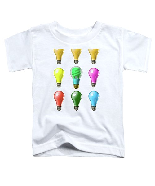 Light Bulbs Of A Different Color Toddler T-Shirt