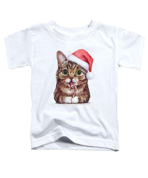 Cat Santa Christmas Animal Toddler T-Shirt
