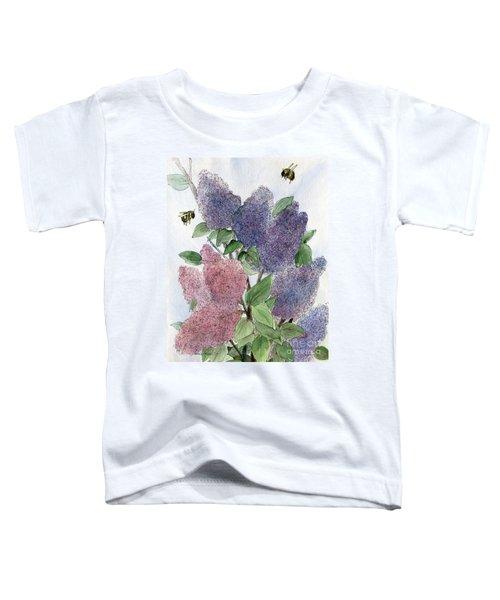 Lilacs And Bees Toddler T-Shirt