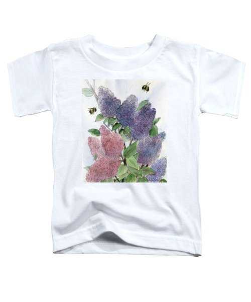 Lilacs And Bees Toddler T-Shirt