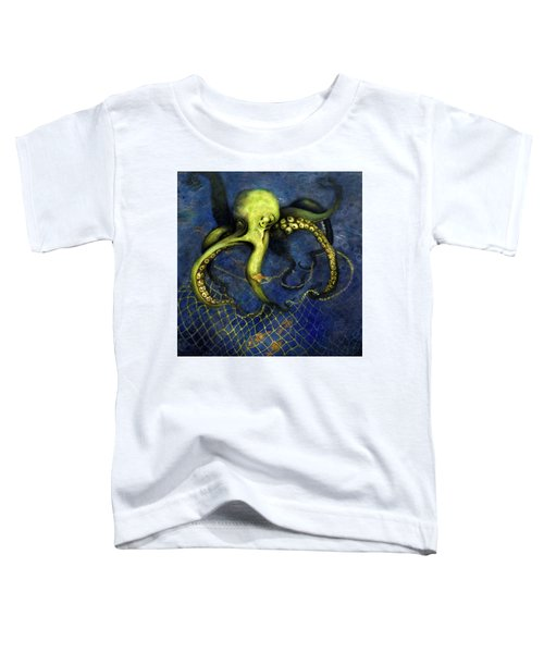 Lime Green Octopus With Net Toddler T-Shirt