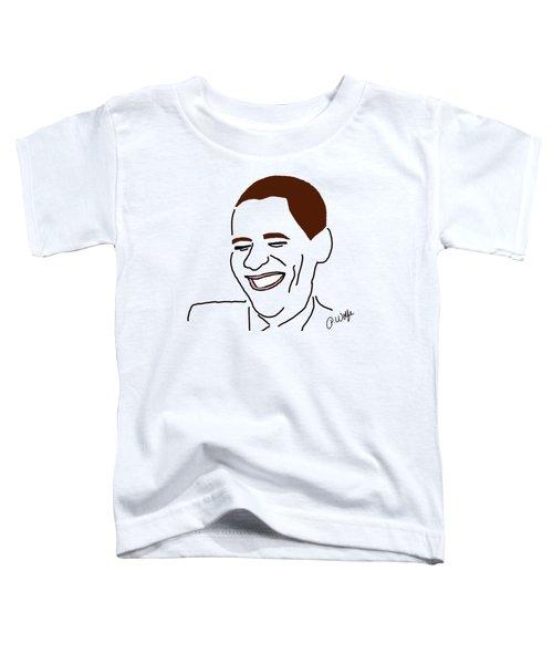 Line Art Man Toddler T-Shirt by Priscilla Wolfe