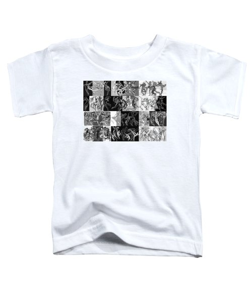 Toddler T-Shirt featuring the drawing Movimento by Judith Kunzle