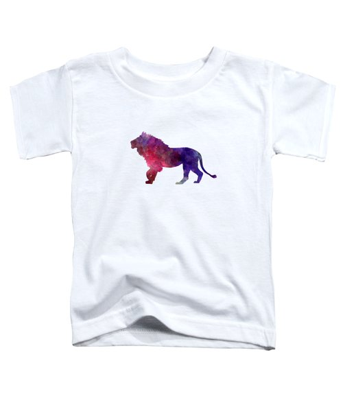 Lion 01 In Watercolor Toddler T-Shirt by Pablo Romero