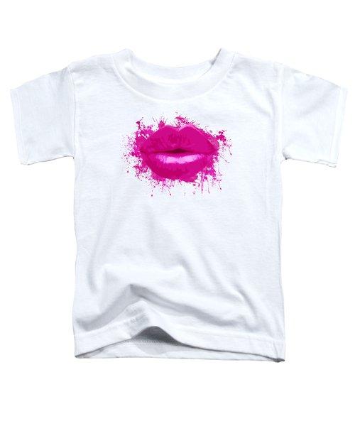 Lips - Light Pink Watercolour  Toddler T-Shirt