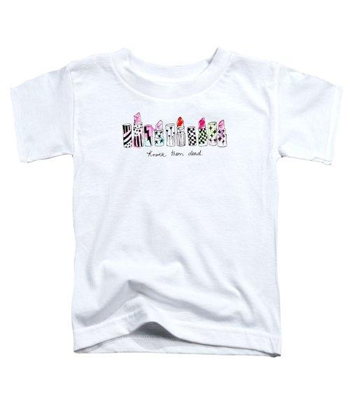 Lipstick Galore Toddler T-Shirt by Elizabeth Taylor