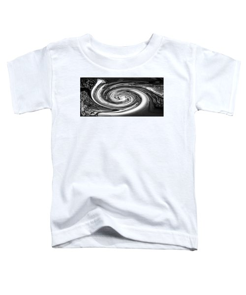 Liquefied Graffiti In Black And White Toddler T-Shirt