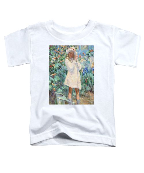 Little Girl With Roses / Detail Toddler T-Shirt