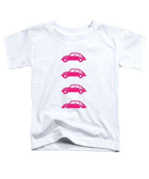 Little Pink Beetles Toddler T-Shirt by Edward Fielding