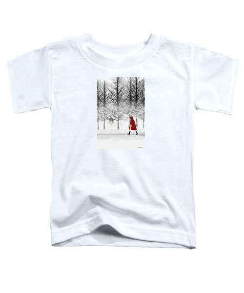 Toddler T-Shirt featuring the digital art Little Red by Nancy Levan