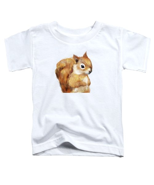 Little Squirrel Toddler T-Shirt by Amy Hamilton