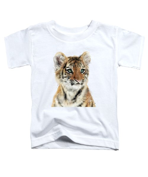 Little Tiger Toddler T-Shirt by Amy Hamilton