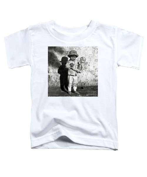 Little Vietnamese Girl Playing With Her Doll Toddler T-Shirt