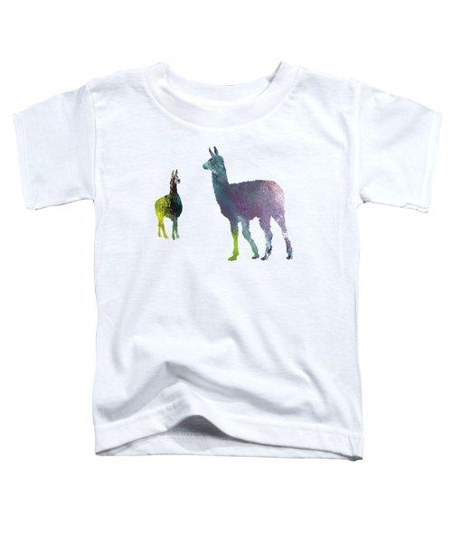 Llama Toddler T-Shirt by Mordax Furittus