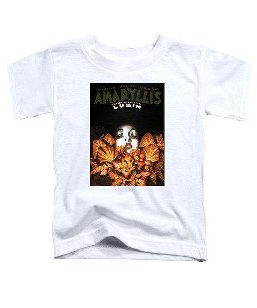 Locion Polvo Jabon Amaryllis - Vintage Lotion Advertising Poster Toddler T-Shirt
