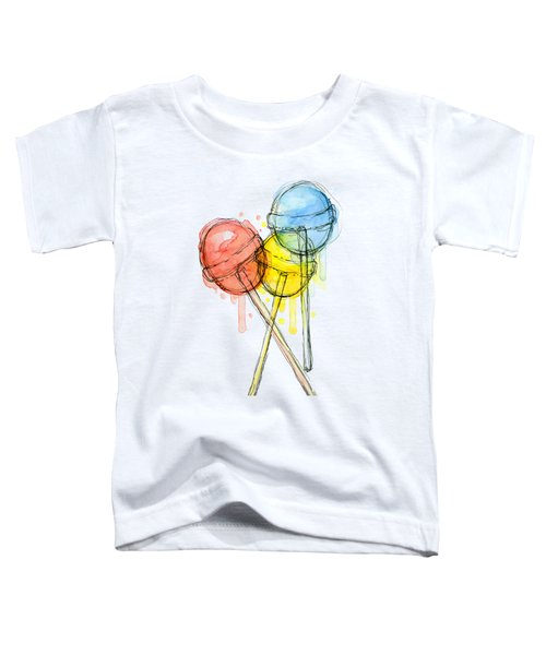 Lollipop Candy Watercolor Toddler T-Shirt