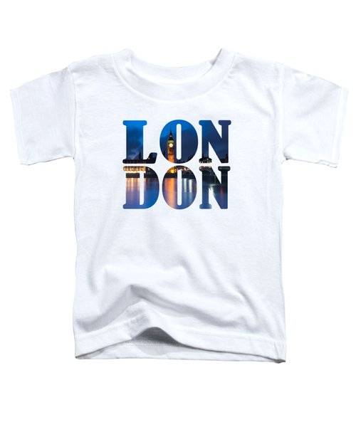 London Letters Toddler T-Shirt by Matt Malloy