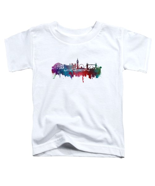 London Skyline City Blue Toddler T-Shirt by Justyna JBJart