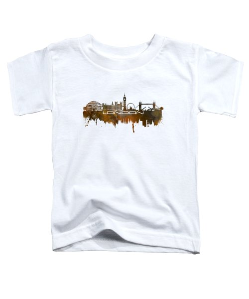 London Skyline City Brown Toddler T-Shirt by Justyna JBJart
