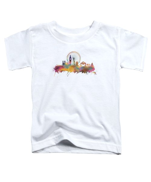 London Skyline Toddler T-Shirt by Justyna JBJart