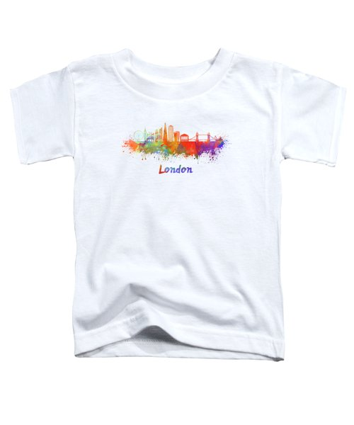 London V2 Skyline In Watercolor  Toddler T-Shirt by Pablo Romero