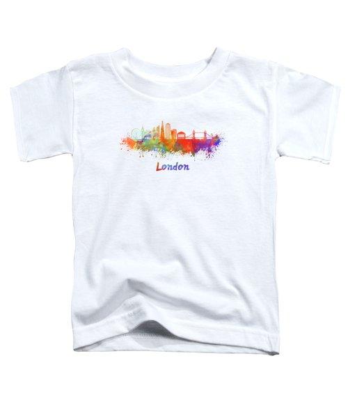 London V2 Skyline In Watercolor  Toddler T-Shirt