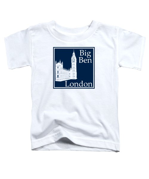 London's Big Ben In Oxford Blue Toddler T-Shirt by Custom Home Fashions