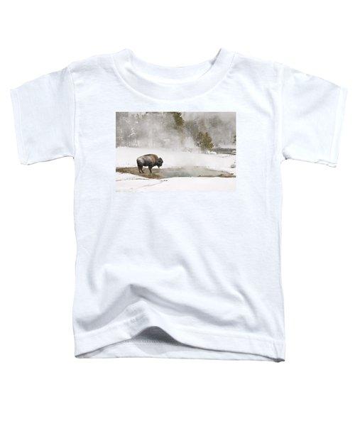 Bison Keeping Warm Toddler T-Shirt