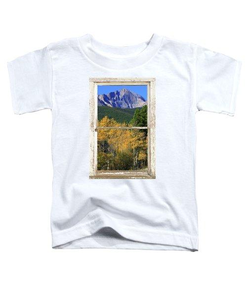 Longs Peak Window View Toddler T-Shirt