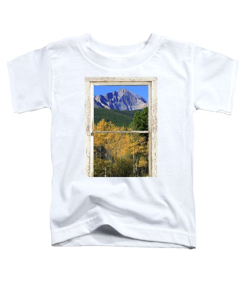 Longs Peak Window View Toddler T-Shirt