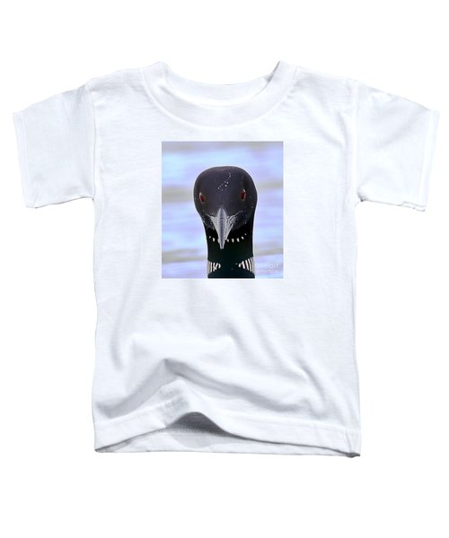 Loon Portrait Toddler T-Shirt by Peter Gray