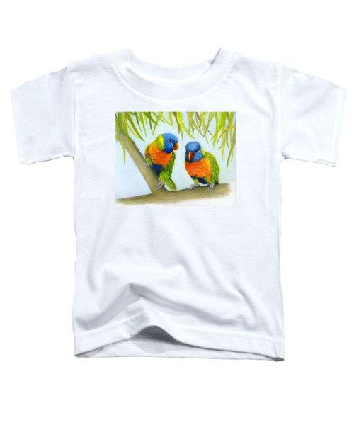 Lorikeet Pair Toddler T-Shirt