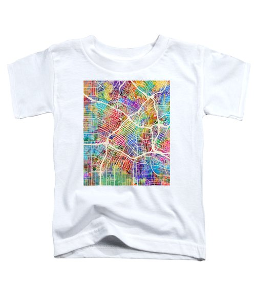 Los Angeles City Street Map Toddler T-Shirt