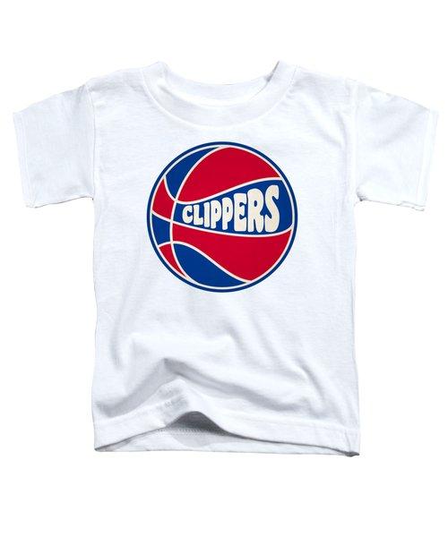 Los Angeles Clippers Retro Shirt Toddler T-Shirt by Joe Hamilton