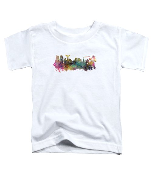 Los Angeles Skyline Toddler T-Shirt by Justyna JBJart