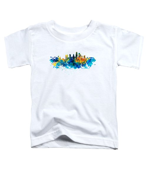 Los Angeles Skyline Toddler T-Shirt by Marian Voicu
