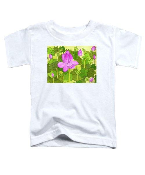 Lotus And Waterlilies Toddler T-Shirt