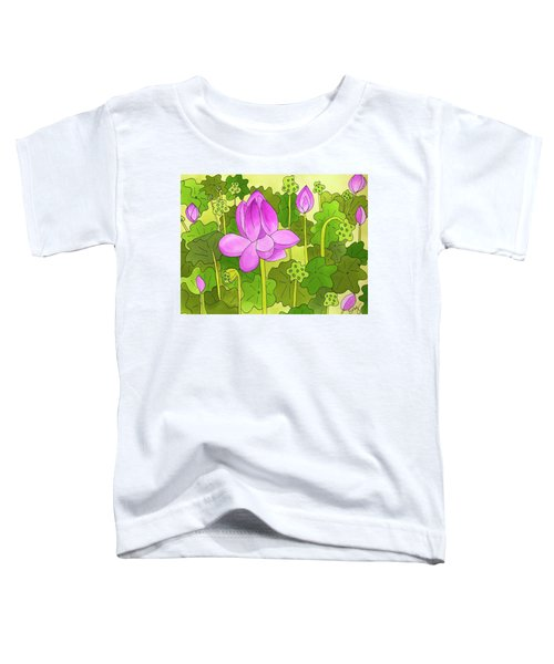 Lotus And Waterlilies Toddler T-Shirt