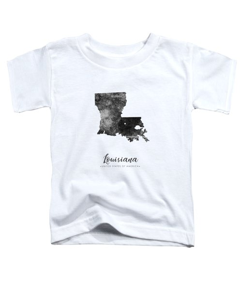 Louisiana State Map Art - Grunge Silhouette Toddler T-Shirt