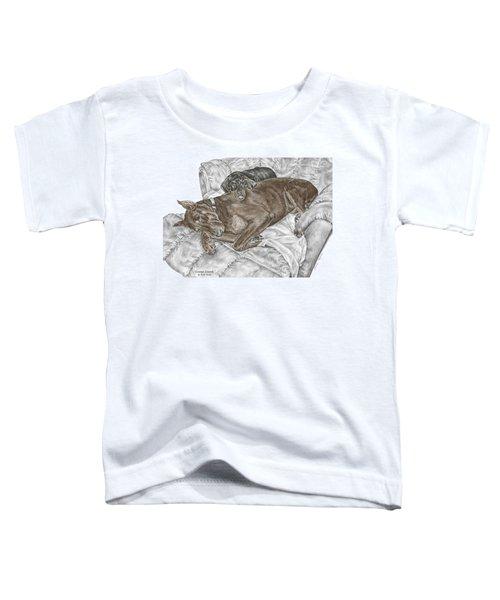 Lounge Lizards - Doberman Pinscher Puppy Print Color Tinted Toddler T-Shirt