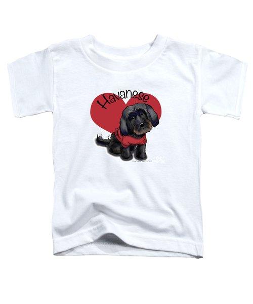 Lovable Black Havanese Toddler T-Shirt