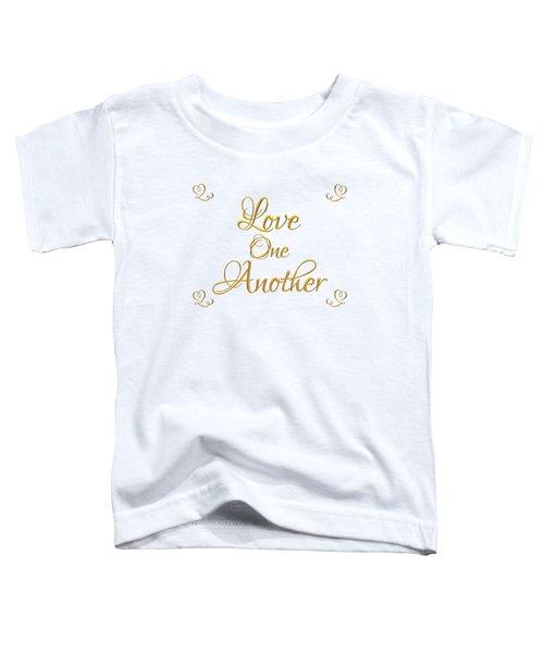 Love One Another Golden 3d Look Script Toddler T-Shirt