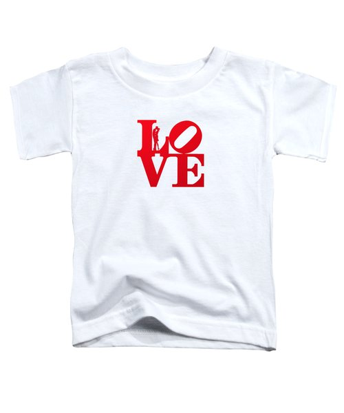 Love Typography - Red On White Toddler T-Shirt