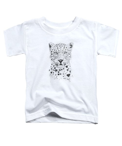 Lovely Leopard Toddler T-Shirt by Balazs Solti