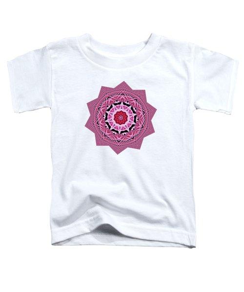 Loving Rose Mandala By Kaye Menner Toddler T-Shirt by Kaye Menner