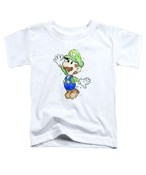 Luigi Watercolor Toddler T-Shirt