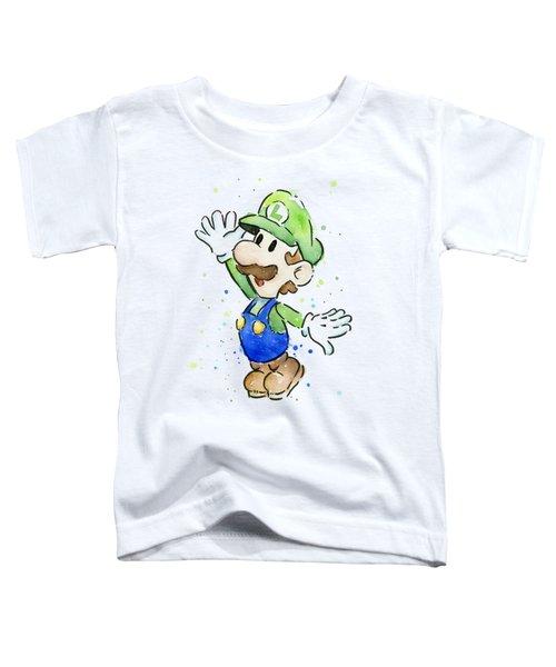 Luigi Watercolor Toddler T-Shirt