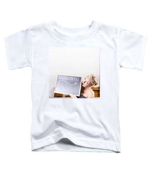 Lunch Time Menu Toddler T-Shirt